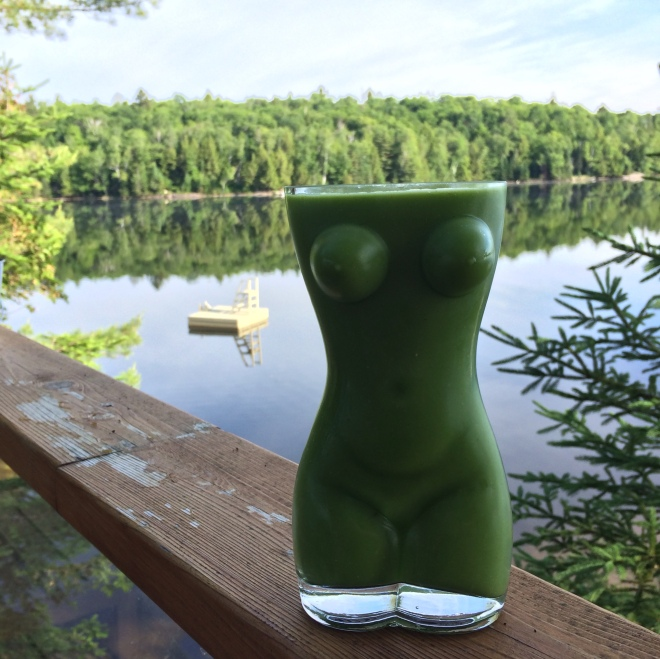 Naked Green Woman